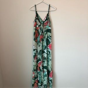 [LC Lauren Conrad] Tropical Leaf Maxi Dress - XS